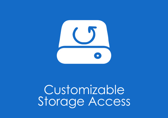 Customizable storage access