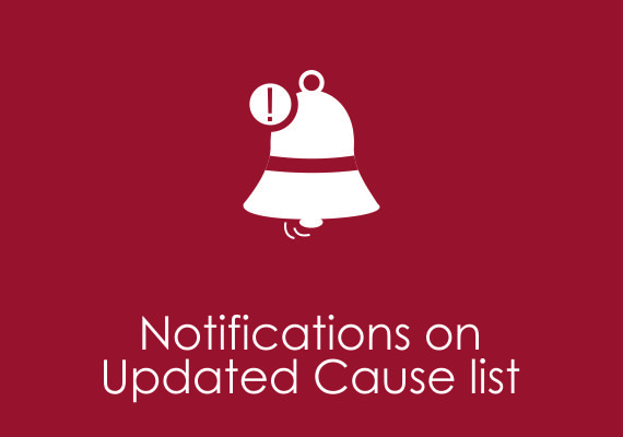 Notifications on updated cause list